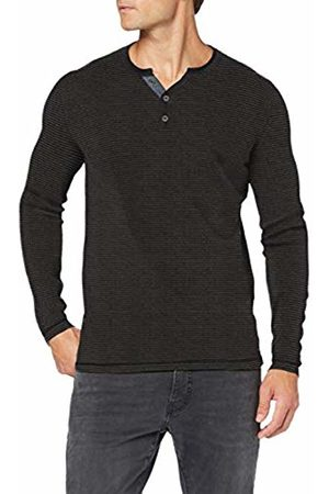 Tom Tailor Men's Feinstrick Henley Jumper, (Anthra Fine Str 19648)