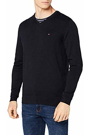 Tommy Hilfiger Men's Core Cotton-Silk Vneck Jumper