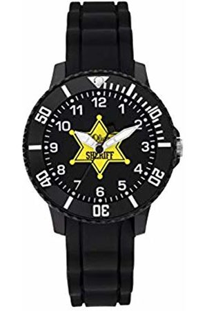 s.Oliver Boys Analogue Quartz Watch with Silicone Strap SO-3928-PQ