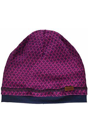 maximo Girl's GOTS Beanie aus Gemustertem Jersey Hat, (Dunkel Meliert 87)