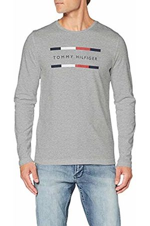 Tommy Hilfiger Men's Corp Long SLV Tee Sport Top, ((Cloud HTR P9v)