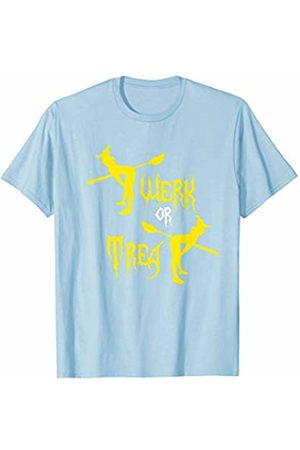 BUBL TEES Twerk Or Treat Funny Witch Trick Or Treat T-Shirt