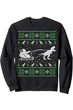 Funny Christmas Clothing Santa Dinosaur Ugly Christmas Sweater For Kid Men Women Sweatshirt
