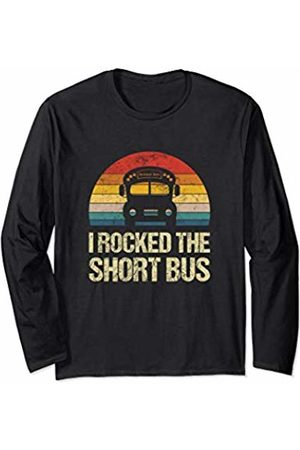 Funny T-Shirts Co. Vintage Bus School Outfit For Kids Driver Gift Retro Student Long Sleeve T-Shirt