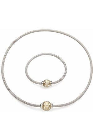 InCollections Women's Necklace (45 cm) and Bracelet (19 cm) 925/000 Sterling Silver Partially -Plated with Magnetic Clasp Fantasy 2TES29 x 060200