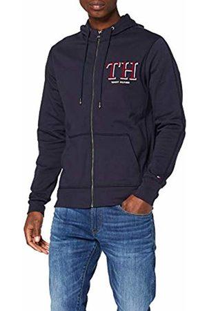 Tommy Hilfiger Men's Th Monogram Hooded Zip Through Sweatshirt