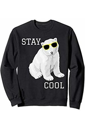 Stay Cool Polar Bear Stay Cool Cute Baby Polar Bear Cub With Sunglasses Sweatshirt