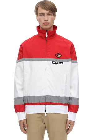 Burberry Logo Patch Zip-up Nylon Track Jacket