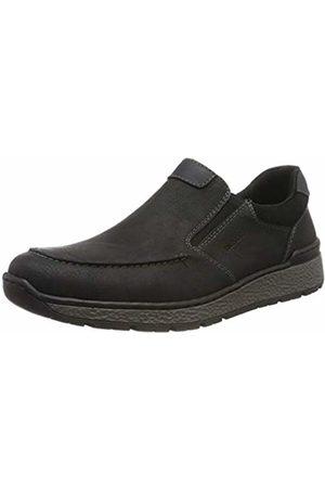 Rieker Men's Herbst/Winter Loafers, Schwarz 00