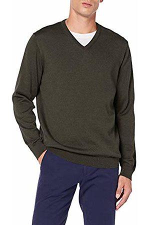 Brax Men's Vico Merino Wool V-Kragen Jumper, (Dark 32)