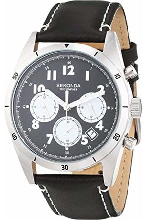 Sekonda Mens Analogue Classic Quartz Watch with Leather Strap 1742