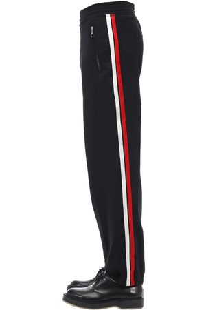Neil Barrett Men Trousers - Jogging Tech Pants W/ Satin Side Bands