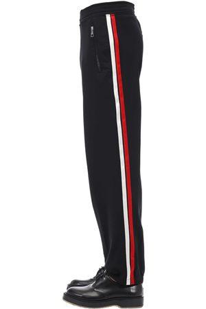 Neil Barrett Men Trousers - Jogging Tech Pants W/ Satin Side Bands