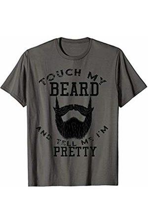 MMN Pretty Beard Man Designs Co Mens Touch My Beard And Tell Me I'm Pretty Bearded Man T-Shirt