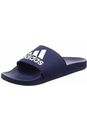 adidas Men's Adilette Comfort Beach & Pool Shoes, Ftwbla/Azuosc 000