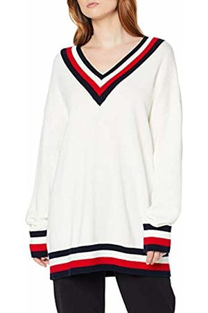 Tommy Hilfiger Women's Th Essential Tipping V-nk SWTR Sweatshirt