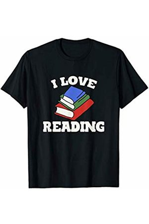 SnuggBubb I love reading red rose artwork T-Shirt