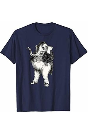 Elephant Gifts & Apparel Elephant in Waistcoat Victorian Dress Smoking Cigar T-Shirt