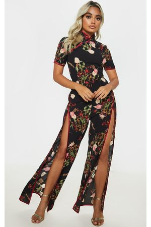 PRETTYLITTLETHING Petite Thigh Split Jumpsuit