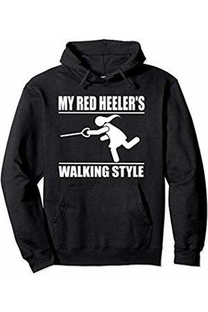 ToonTyphoon Humorous Red Heeler ( Women ) Walking Style Pullover Hoodie