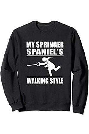 ToonTyphoon Humorous Enlgish Springer Spaniel ( Women ) Walking Style Sweatshirt