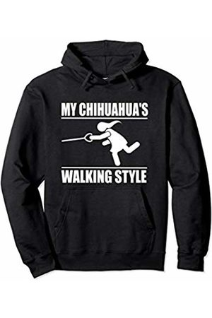 ToonTyphoon Humorous Chihuahua ( Women ) Walking Style Pullover Hoodie