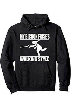 ToonTyphoon Humorous Bichon Frise ( Women ) Walking Style Pullover Hoodie