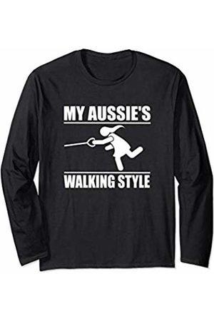 ToonTyphoon Humorous Australian Shepherd ( Women ) Walking Style Long Sleeve T-Shirt