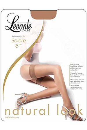 Levante Women's Solare 6 Autoreggente 100% Made In Italy Hold - up Stockings, 7