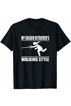 ToonTyphoon Humorous Golden Retriever ( Women ) Walking Style T-Shirt