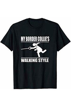 ToonTyphoon Humorous Border Collie ( Women ) Walking Style T-Shirt