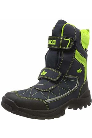 LICO Unisex Adults' Luano V Snow Boots, Marine/Lemon