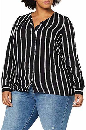 JUNAROSE Women's Jrveronica Ls Shirt-K Blouse, ( Stripes: Snow )