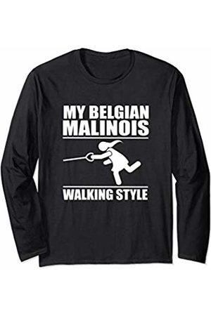 ToonTyphoon Humorous Belgian Malinois ( Women ) Walking Style Long Sleeve T-Shirt