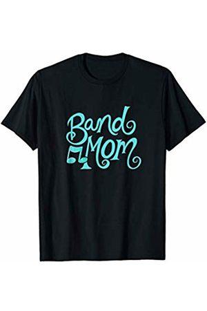 SnuggBubb Band Mom I love Band red heart T-Shirt