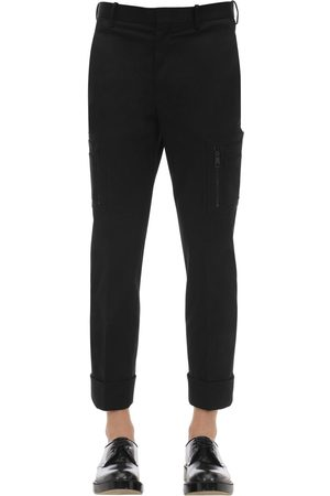 Neil Barrett Cotton Gabardine Pants W/ Pockets