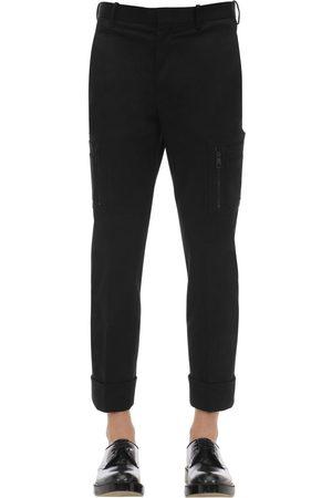Neil Barrett Cotton Gabardine Pants W/ Pockets