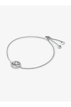 Michael Kors MK Precious Metal-Plated Sterling Logo Slider Bracelet