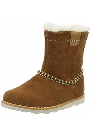 Clarks Girls' Crown Piper T Slouch Boots, Tan Suede