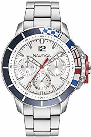Nautica Unisex Adult Analog Quartz Watch with Stainless-Steel Strap NAPBHP907