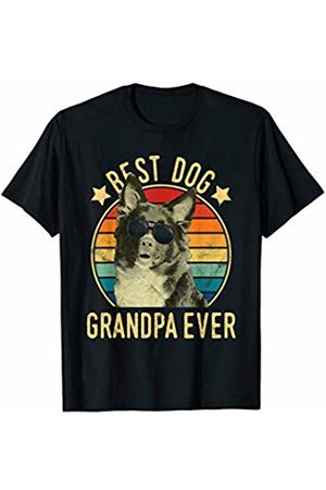 Miniature American Shepherds Owner Gift Mens Best Dog Grandpa Ever Miniature USA Shepherds Father's Day T-Shirt