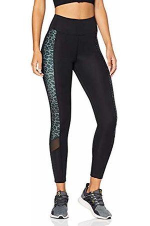 AURIQUE BAL1146 gym leggings women, Leopard Print/ Mesh
