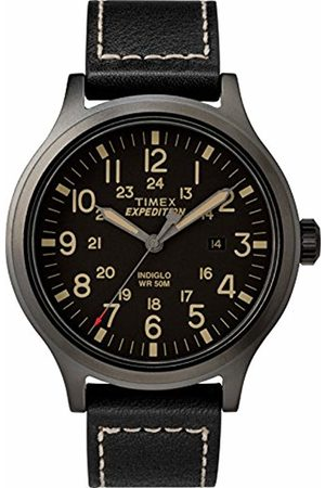 Timex Mens Analogue Classic Quartz Connected Wrist Watch with Leather Strap TW4B11400