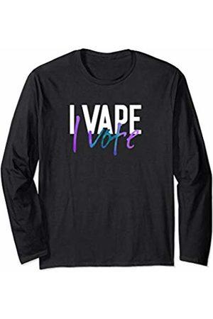 Eat Sleep Vape Repeat Vaping Gifts ADC I Vape I Vote Purple Teal Adults Like Flavors Vaping Ban Long Sleeve T-Shirt