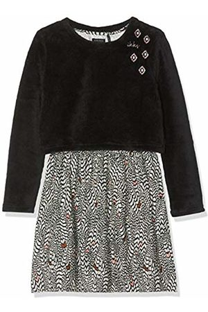 IKKS Girl's Robe 2 En 1 Imprimee Plume Dress