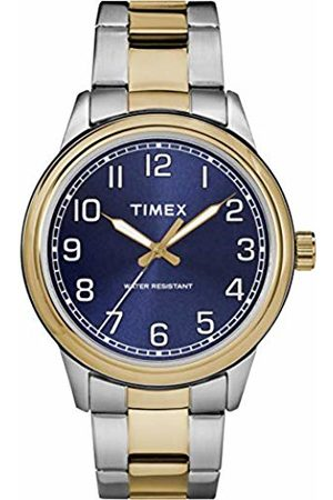 Timex Mens Heritage Blue Dial with a Stainless Steel Bracelet Watch TW2R36600