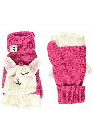 Joules Girl's Chummy Glittens Gloves, (Bright Bunny Brtpnkbuny)