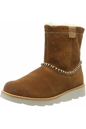 Clarks Girls' Crown Piper K Slouch Boots, Tan Suede