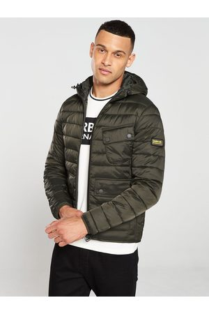 Barbour Ouston Hooded Quilted Coat - Khaki