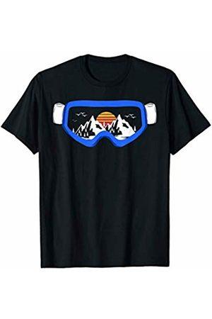 Ski Snowboard Goggles Skiing Snow Garment Ski Snowboard Goggles Skiing Snow Mountain Apparel Design T-Shirt